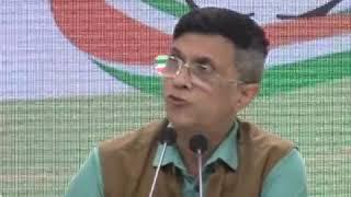 Pawan Khera addresses media at Congress HQ on Pulwama terrorist gets bail