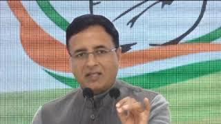 Randeep Singh Surjewala addresses media at Congress HQ on Justice Muralidhar's Transfer