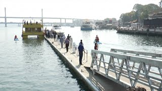 India's first floating jetty in river Mandovi now gathers opposition