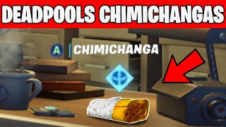 Find Deadpool's Chimichangas around HQ - Deadpools Challenges Fortnite