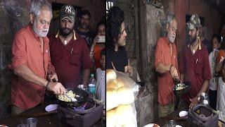 Sanjay Mishra Making Omelette Pav Stall For Promoting Film Kaamyaab   News Remind
