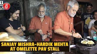 Sanjay Mishra & Hardik Mehta's UNIQUE Promotions For Kaamyaab At An Omelette Pav Stall