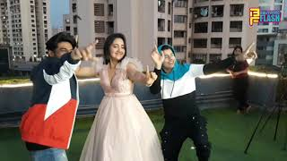 Ashnoor Kaur And Siddharth Nigam Cute Dance Video At Red Yellow Suit Song