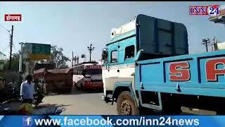 डोंगरगढ़ - शहर से भारी वाहनों की आवाजाही से सड़क में ट्रैफिक का बढ़ रहा दबाव, स्थानीय परेशान