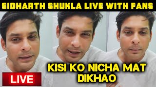 Sidharth Shukla LIVE Video Chat With Fans | SidHearts | Bigg Boss 13 Winner