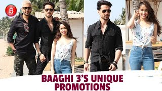 Tiger Shroff-Shraddha Kapoor-Riteish Deshmukh's UNIQUE Promotions For Baaghi 3