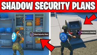 Steal Security Plans From The Rig , Yacht or Shark and Deliver them to Shadow Fortnite