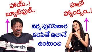 Ram Gopal Varma Flirting Anchor On Live | BS Talk Show | Top Telugu TV