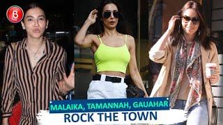 Malaika Arora, Tamannaah, Gauahar Khan Rock The Town As They Flaunt Their Fab Looks Around The City