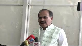 Adhir Ranjan Chowdhury addresses media in Parliament House on Delhi Violence