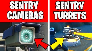 DESTROY SENTRY CAMERAS OR SENTRY TURRETS - TNTINA's TRIAL CHALLENGES Fortnite