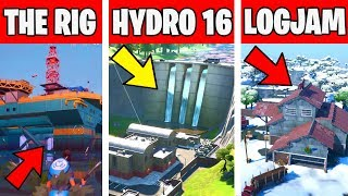 LAND AT THE RIG, HYDRO 16, AND LOGJAM WOODWORKS - TNTINA's TRIAL CHALLENGES Fortnite