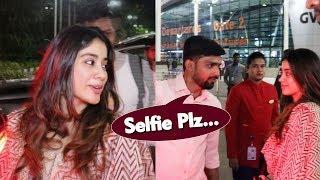Beautiful Janhvi Kapoor's Sweet Gesture Towards Fan Spotted At Mumbai Airport | Return From Chennai