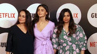 Alia Bhatt With Mother And Sister At The Special Screening Of Web Film Guilty