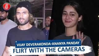 Vijay Deverakonda & Ananya Panday Flirt With The Cameras As They Are Spotted Returning After Shoot