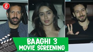 Tiger Shroff, Shraddha Kapoor, Disha Patani, Kabir Khan Attend Baaghi 3's Special Screening