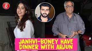 Janhvi Kapoor & Boney Kapoor Have A Fun Dinner Time With Arjun Kapoor