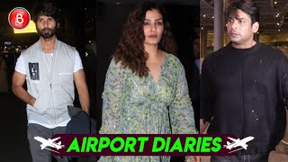 Sidharth Shukha, Raveena Tandon, Shahid Kapoor Rock The Airport Fashion