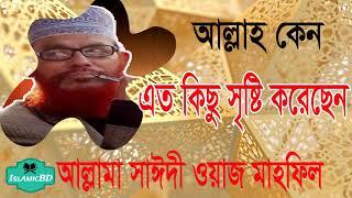 আল্লাহ কেন এত কিছু সৃষ্টি করলেন । Allama Saidi Bangla Waz Mahfil | Saidi Tafsirul Quran Mahfil