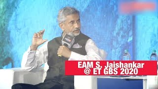 Moving out of RCEP in business interests of India: EAM Jaishankar | ET GBS 2020