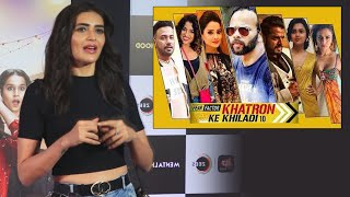 Karishma Tanna Reaction On STUNTS In Khatron Ke Khiladi 10 | Experience | Journey | Rohit Shetty