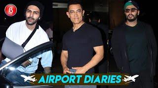 Kartik Aaryan, Aamir Khan, Arjun Kapoor Rock The Airport Look