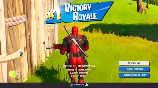 Fortnite Deadpool Skin Full Gameplay