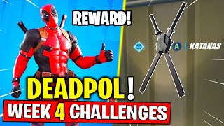 Week 4 Deadpool Challenges - Find Deadpool's katanas Fortnite Chapter 2 Season 2 (Deadpools Katanas)