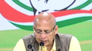 Abhishek Manu Singhvi addresses media at Congress HQ on the Yes Bank Crisis