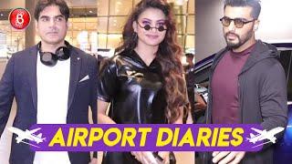 Arbaaz Khan, Urvashi Rautela, Arjun Kapoor Rock The Airport Look In Style