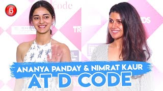 Ananya Panday & Nimrat Kaur Rock The Red Carpet At D Code Design Expo