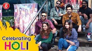 Mouni Roy, Sunny Singh, Varun Sharma, Mika Singh, Remo D'Souza Have Fun On Holi