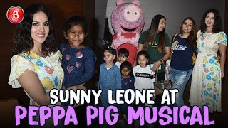 Sunny Leone & Her Kids Rock The Peppa Pig Musical Event