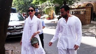 Kareena Kapoor With Taimur And Saif Aai Khan Spotted After Holi Celebration, Bandra