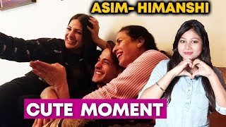 Asim Riaz With Himanshi And Her Mother | CUTE Family