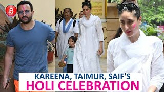 Kareena Kapoor, Taimur, Saif Ali Khan Rock The Holi Celebrations In Style