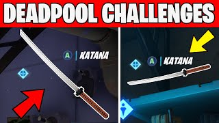 Find Deadpool's Katanas All 2 Katana Locations -Deal damage to opponent Deadpool Challenges Fortnite