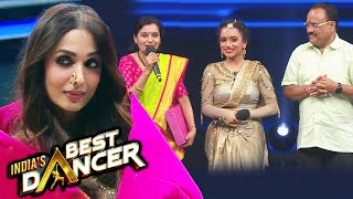 India's Best Dancer   Rutuja And Her Mother GIFTS Malaika Arora A PAITHANI SAREE With Nathni