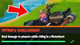 Deal damage to players while riding in a Motorboat Fortnite