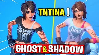 How To Get Shadow Or Ghost TNTINA - Complete 18 TNTina Challenges! Destroy Ghost/Shadow Dropboxes