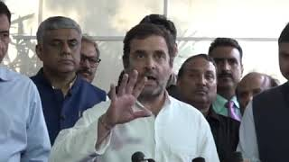 Shri Rahul Gandhi addresses media at Parliament House on the State of the Economy