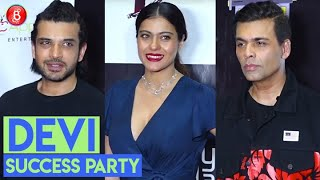 Kajol, Karan Johar, Karan Kundrra Lead The Pack At The Success Bash Of Short Film Devi