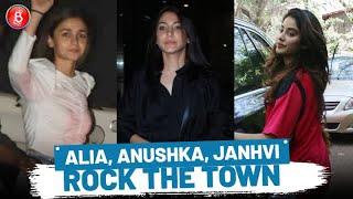 Janhvi Kapoor, Anushka Sharma, Alia Bhatt Rocked The Town As Paparazzi Clicked Them In Style