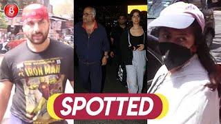 Saif Ali Khan, Boney Kapoor-Khushi Kapoor, Ekta Kapoor & Krushna Abhishek Spotted Around Town