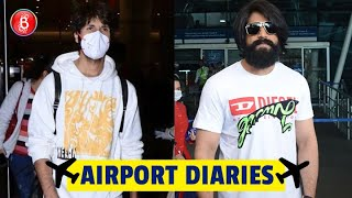 KGF Star Yash & Shahid Kapoor Flaunt Their Smashing Airport Looks