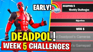 How to Get Deadpool Skin & VBUCKS (Without BattlePass)! Deadpool Week 5 Challenges in Fortnite