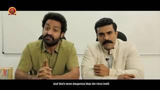 Actors Jr. NTR and Ram Charan Raise Awareness about Corona Virus