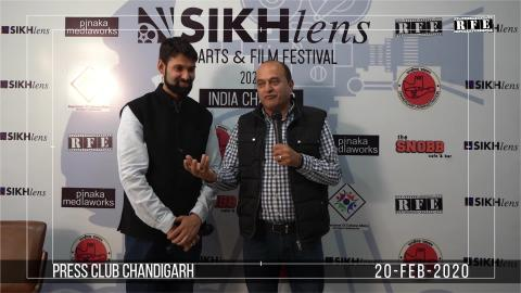 Watch Sikhlens Chandigarh 2020 Press Conference | Vinod Chauhan, Ojaswwee, Bicky Singh | Sikh Arts & Film Festival India | RFE TV Video