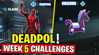 Deadpool Week 5 Challenges - Find Deadpool's stuffed unicorn & Embrace the rainbow Fortnite