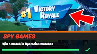 Win a match in Operation matches Fortnite
